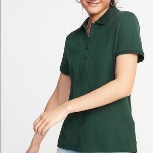 Old Navy Women's  Uniform Pique Polo Shirt